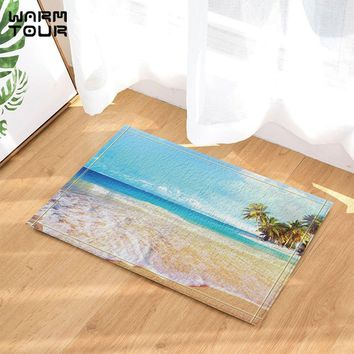 Autumn Fall welcome door mat doormat Warm Tour Sea Water Floating Anti-slip  Home Decor Indoor Outdoor Entrance  Rubber Backing Bathroom Accessories AT_76_7