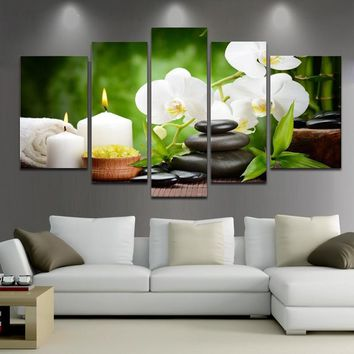 No Frame Spring Stone Bamboo Image Canvas Painting Home Decoration Pictures Wall Pictures for Living Room Modular Pictures