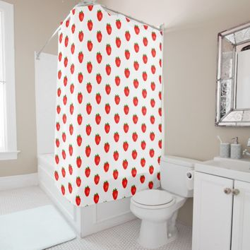 Yummy and Sweet Strawberry Shower Curtain