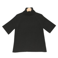 Angora Polo-neck Knit Top