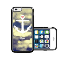 RCGrafix Brand Anchored-Forever-Chevron-Coral iPhone 6 Case - Fits NEW Apple iPhone 6