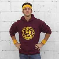 Paulie Bleeker Dancing Elk Condors Hoodie Hooded Sweatshirt Paul Pauly Juno Movie Costume Michael Cera Running Jogging Track Runner New