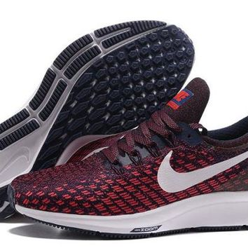 DCCKY4E Nike Air Zoom Pegasus 35 Multi Color Unisex Trail Running Shoes