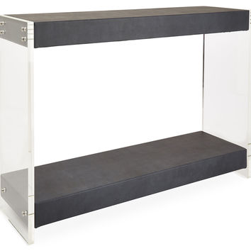 Devan Console, Midnight, Acrylic / Lucite, Console Table