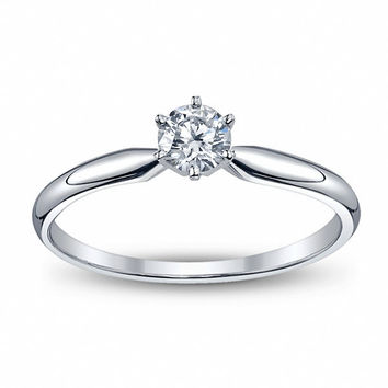 .25 ct. Round Diamond Solitaire Engagement Ring in 14k White Gold