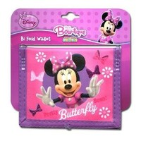 Minnie Pretty Butterfly Non- Woven Bifold Wallet on Card