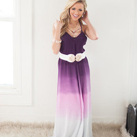 Gentle Fade Maxi Dress in Purple