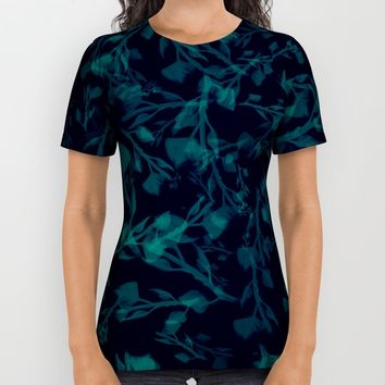 leaf pattern All Over Print Shirt by Berwies