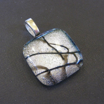 Dichroic Fused Glass Slide Pendant Stunning by mysassyglass
