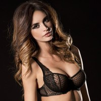 Sexy Sheer Lace Demi Cup Bra Caprice Rosaline
