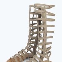 Lexi Knee High Caged Gladiator Sandal