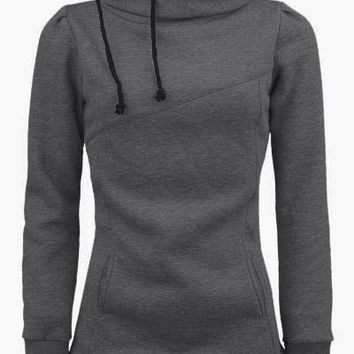 Cupshe Just Today Hooded Long Sweatshirt