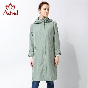 Astrid 2018 High Quitly Trench Coat for Women Plus Size Women's Windbreaker Spring and Autumn Coat Big Size Women Coat AS-2805