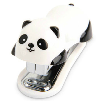 Cute Panda Mini Desktop Stapler&Staple Hand Stapler Office Home Stapler
