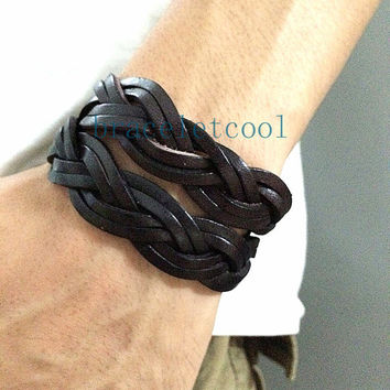 Wrap Bracelet Fashion Leather Bracelet Women Leather Jewelry Bangle Cuff Bracelet Men Leather Bracelet CR13