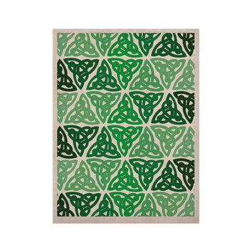 "KESS Original ""Celtic Knot Green"" Forest Mint KESS Naturals Canvas (Frame not Included)"