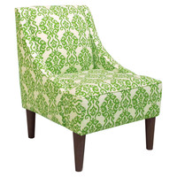 Quinn Swoop-Arm Chair, Apple Green, Accent & Occasional Chairs