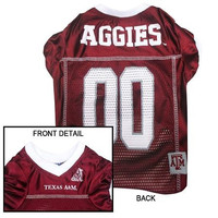 Texas A&M Aggies Pet Jersey XL