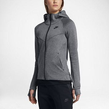 KUYOU Nike Women's Tech Fleece Windrunner Jacket (Carbon Grey)