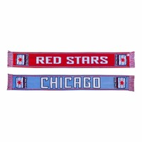Chicago Red Stars Fan HD Knit Scarf - Light Blue/Red