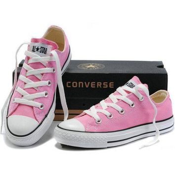 "Pink ""Converse"" Fashion Canvas Flats Sneakers Sport Shoes Low Top"