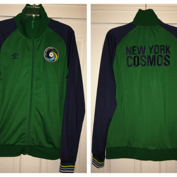 Sale!! Vintage Umbro New York Cosmos USA Soccer Jacket MLS Jersey Football Shirt Pele Size Large Free US Shipping