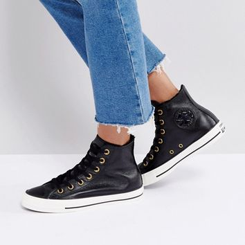Converse Chuck Taylor High Sneakers With Faux Fur Lining at asos.com