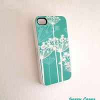 Pretty Mint iPhone 4 or iPhone 4S Case Queen Annes Lace Ships from USA