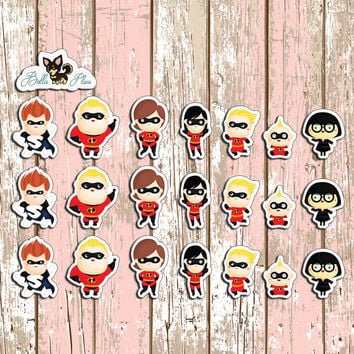 The Incredibles Planner Stickers | Erin Condren | Inkwell | Kikki K | Filofax | Disney | Super Hero | Sticker | Plan