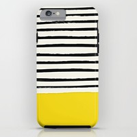 Sunshine x Stripes iPhone & iPod Case by Leah Flores