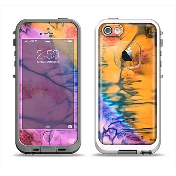 The Vivid Colored Wet-Paint Mixture Apple iPhone 5-5s LifeProof Fre Case Skin Set