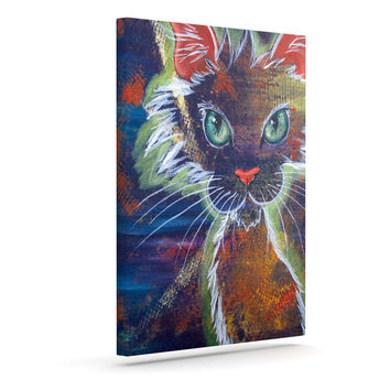 "Padgett Mason ""Rave Kitty"" Outdoor Canvas Wall Art"