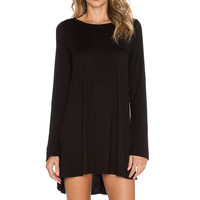 Michael Lauren Harvest Long Sleeve Dress in Black