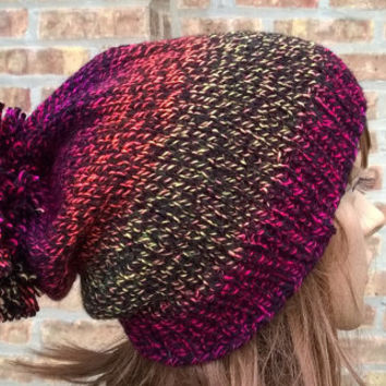 Womens Hat - Knit Hat - The Lorelei in Firecracker - Womens Accessories - Slouchy Hat