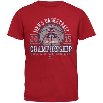 American Championship Vintage Basketball - Red Adult T-Shirt