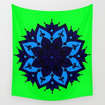 Kids Mandala Anahata Wall Tapestry by Azima