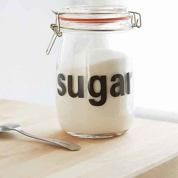 Sugar Glass Canister- Clear One