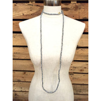 Kristalize Jewelry- Brielle Necklace- True Silver
