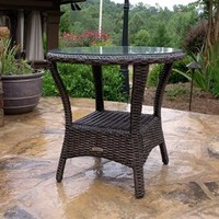 Tortuga Outdoors Resin Wicker Bayview Side Table