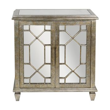 Panaro Transitional Golden Bronze Crackle Accent Cabinet by Uttermost