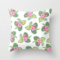 tropical Throw Pillow by Sylvia Cook Photography