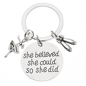 Dance Keychain - She Believed She Could So She Did