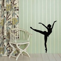 Wall Vinyl Decal Sticker Art Design Ballerina Girl Ballet Dancer Dance Studio School Room Nice Picture Decor Hall Wall Chu593