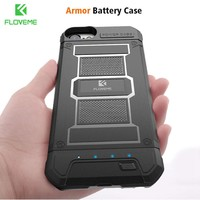 FLOVEME 3000mAh Battery Charger Case For iPhone 8 7 6 6S Power Cases Luxury Armor Men Power Bank For iPhone 6 7 iPhone 8 Charger