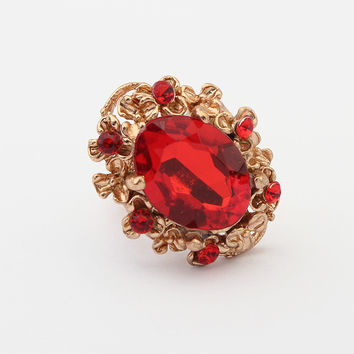 Gift New Arrival Jewelry Shiny Vintage Stylish Water Droplets Gemstone Ring [4918813316]