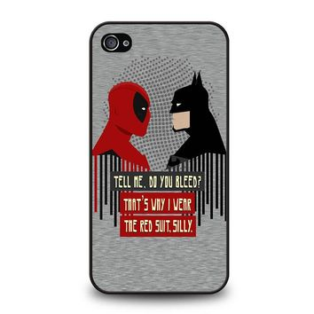 DEADPOOL VS BATMAN iPhone 4 / 4S Case Cover