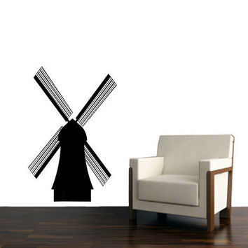 Windmill Vinyl Design for Living room and office Space.