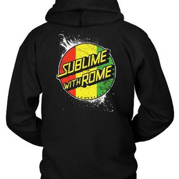 MDIG1GW Sublime With Rome Rasta Hoodie Two Sided