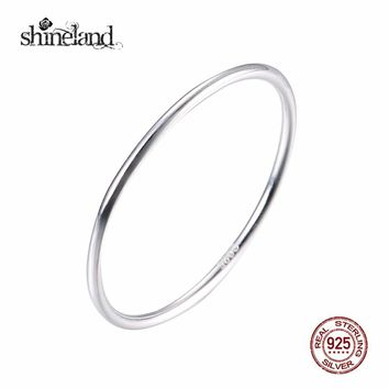 Women's 100% 925 Sterling Silver Thin Band Ring.    In Sizes 5, 6, 7 and 8.     ***FREE SHIPPING***