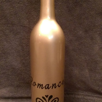 You Need A Shot of... ROMANCE! Hand-Painted Decorative Barware / Bottles w/ a Witty Twist -Unique Wine & Liquor Decanters / Painted Bottles